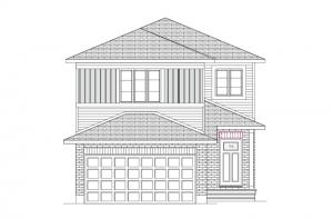 Neuvo 2-BS - Canadiana B1 Elevation - 2,040 sqft, 3-4 Bedroom, 2.5-3.5 Bathroom - Cardel Homes Ottawa