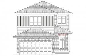 NEUVO 1 - PS - Canadiana B1 Elevation - 2,040 sqft, 3-4 Bedroom, 2.5-3.5 Bathroom - Cardel Homes Ottawa