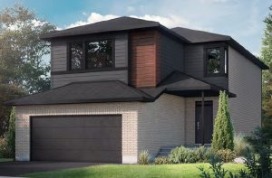 NEUVO 1 - PS - Modern B3 Elevation - 2,040 sqft, 3-4 Bedroom, 2.5-3.5 Bathroom - Cardel Homes Ottawa