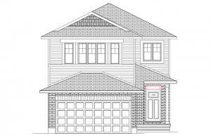 NEUVO 1 - PS - Canadiana B4 Elevation - 2,040 sqft, 3-4 Bedroom, 2.5-3.5 Bathroom - Cardel Homes Ottawa