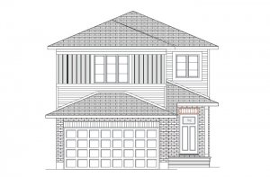 NEUVO 2 BSPS - Canadiana B1 Elevation - 2,040 sqft, 3-4 Bedroom, 2.5-3.5 Bathroom - Cardel Homes Ottawa