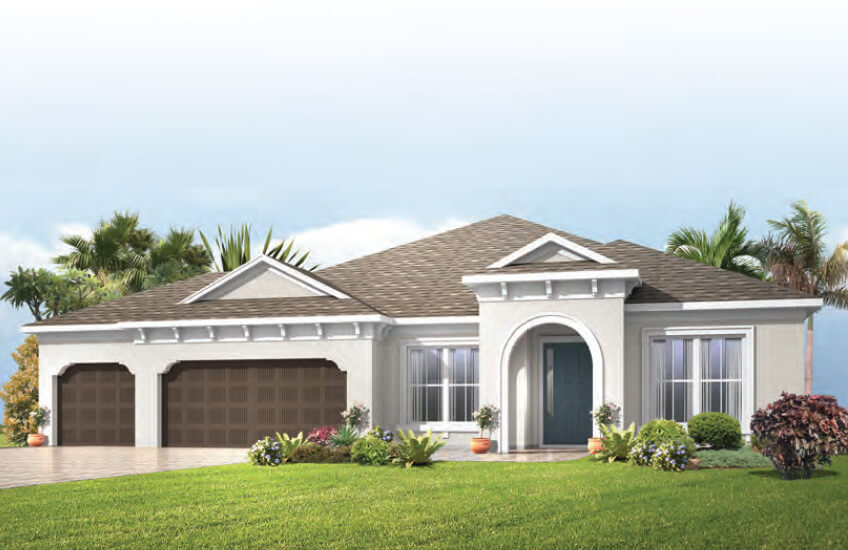 New Tampa Single Family Home Quick Possession Barrett in Bexley, located at 16583 Chord Dr , Land O' Lakes, FL (Lot 3-Q) Built By Cardel Homes Tampa