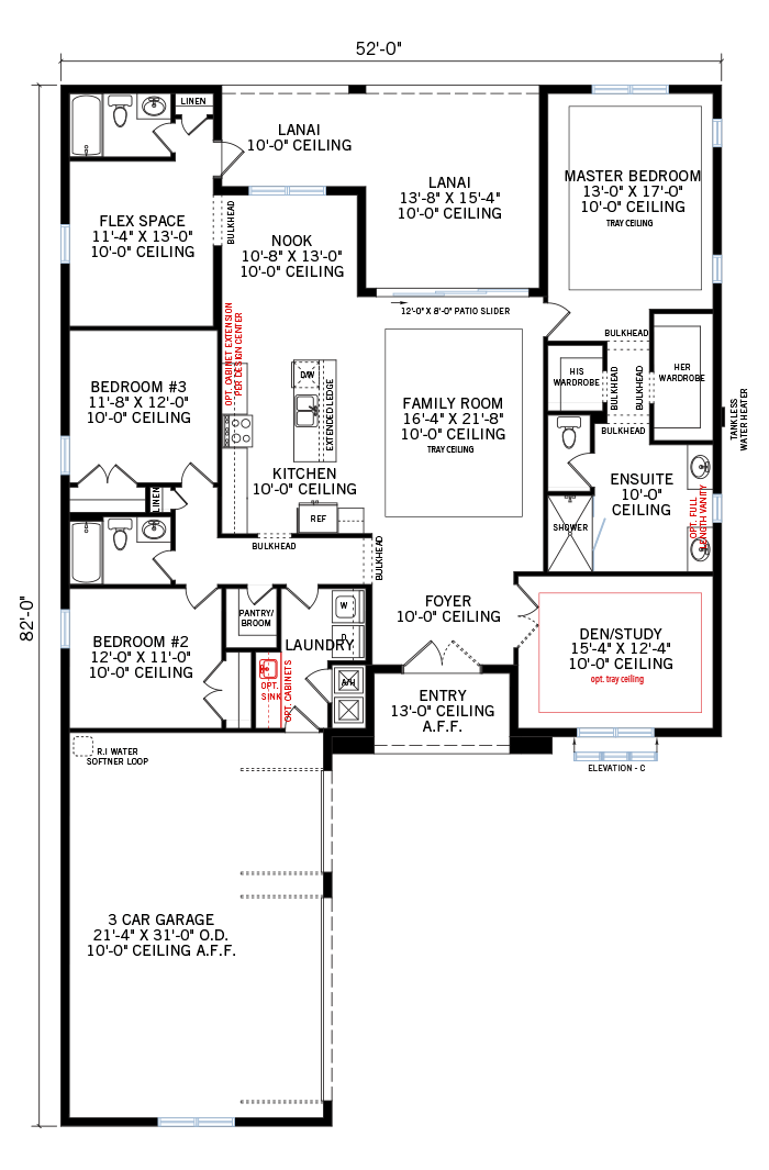 The Asher home main floor quick possession in Worthington, located at 4617 Antrim Drive, Sarasota, FL (Lot 5) Tampa Built By Cardel Homes