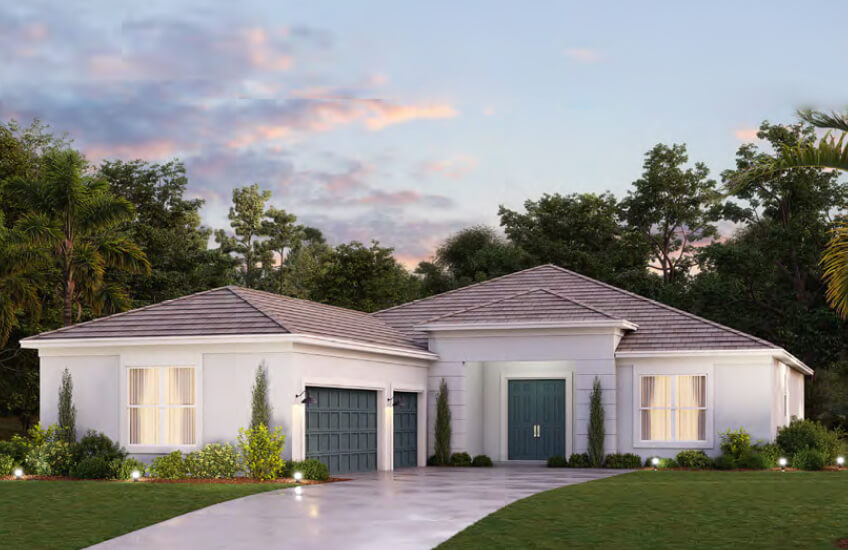 New Tampa Single Family Home Quick Possession Asher in Worthington, located at 4617 Antrim Drive, Sarasota, FL (Lot 5) Built By Cardel Homes Tampa