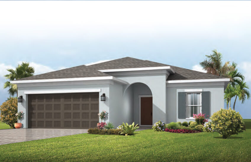 New Tampa Single Family Home Quick Possession Brighton in Waterset, located at 5624 Del Coronodo Dr, Apollo Beach (Lot 6) Built By Cardel Homes Tampa