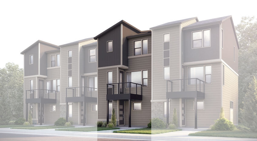 New Denver Single Family Home Quick Possession Kennedy in Westminster Station, located at 6960 Eliot Street, Denver Built By Cardel Homes