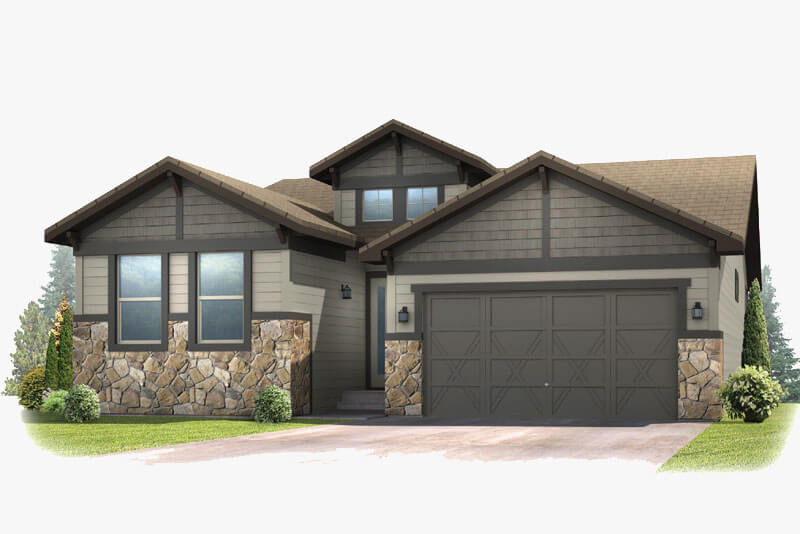 New Denver Single Family Home Quick Possession Pebble Beach in The Ridge, located at 6268 Dakota Ridge Built By Cardel Homes Denver