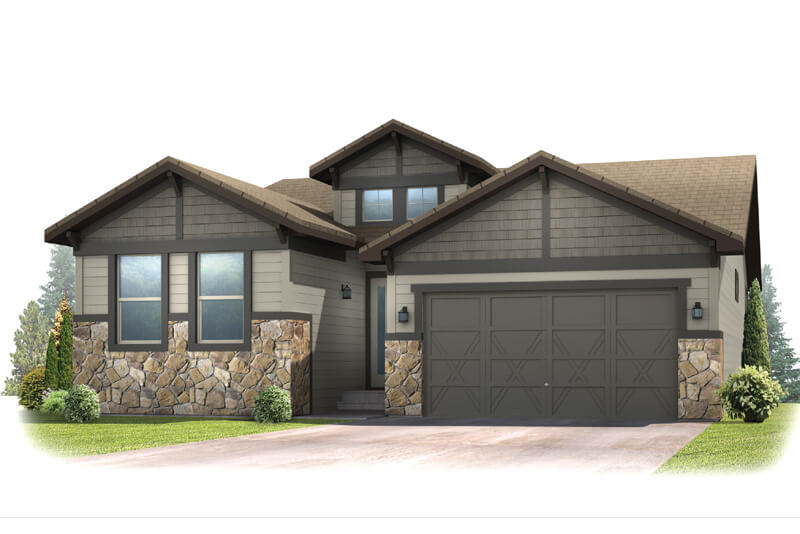 New Denver Single Family Home Quick Possession Pebble Beach in The Ridge, located at 6268 Dakota Ridge Built By Cardel Homes