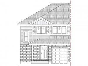 Walden MCR Semi - Canadiana A1 Elevation - 1,565 sqft, 3 Bedroom, 2.5 Bathroom - Cardel Homes Ottawa