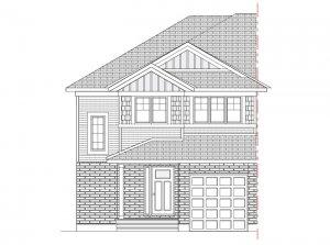 Walden MCR Semi - Canadiana A2 Elevation - 1,565 sqft, 3 Bedroom, 2.5 Bathroom - Cardel Homes Ottawa