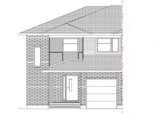 Walden MCR Semi - Modern A3 Elevation - 1,565 sqft, 3 Bedroom, 2.5 Bathroom - Cardel Homes Ottawa