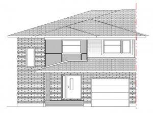 Walden MCR Semi - Modern A4 Elevation - 1,565 sqft, 3 Bedroom, 2.5 Bathroom - Cardel Homes Ottawa
