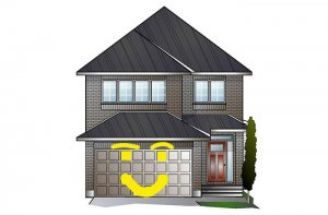 Paloma TEST - A2 Traditional Test Elevation - 2,233 sqft, 3 - 5 Bedroom, 2.5 - 4 Bathroom - Cardel Homes Ottawa