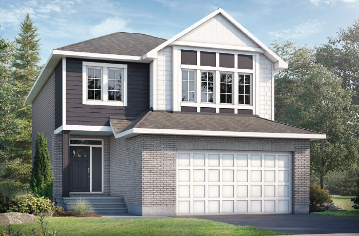 GRAFTON BSPS - Canadiana B1 Elevation - 2,346 sqft, 3-5 Bedroom, 2.5-3 Bathroom - Cardel Homes Ottawa