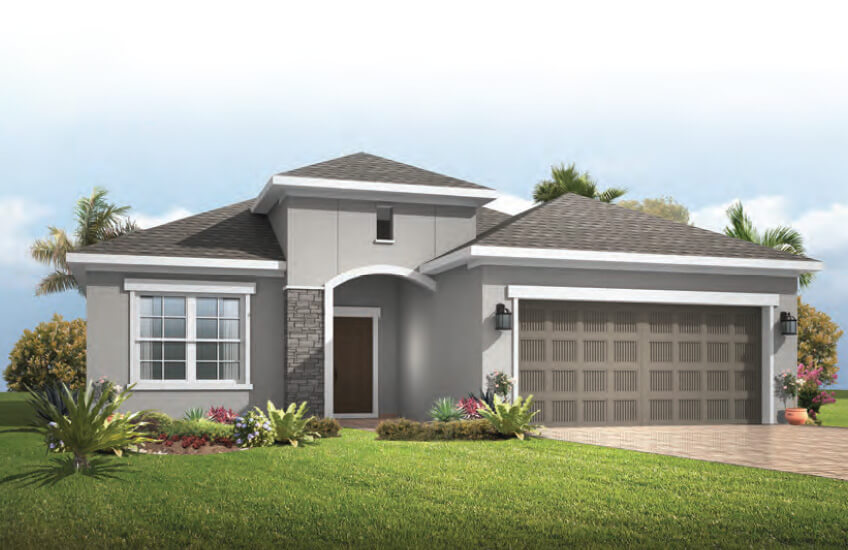 New Tampa Single Family Home Quick Possession Brighton in Waterset, located at 5604 Del Coronoda Dr, Apollo Beach (Lot 14) Built By Cardel Homes
