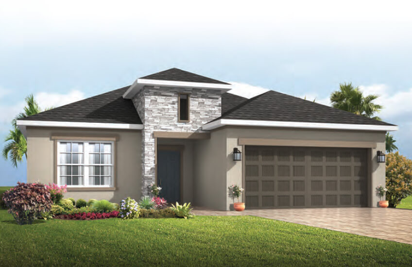 New Tampa Single Family Home Quick Possession Southampton in Waterset, located at 5609 Lime Light Dr, Apollo Beach, FL (Lot 20) Built By Cardel Homes