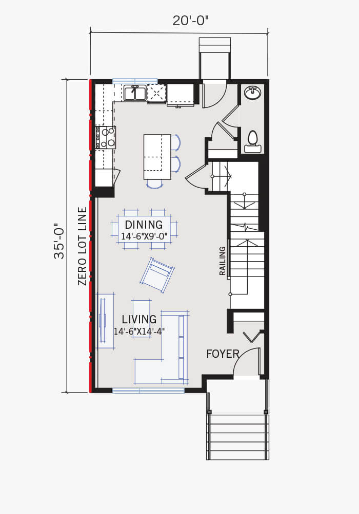 The Indigo 3 home main floor quick possession in Walden, located at 478 Walgrove Way SE Calgary Built By Cardel Homes