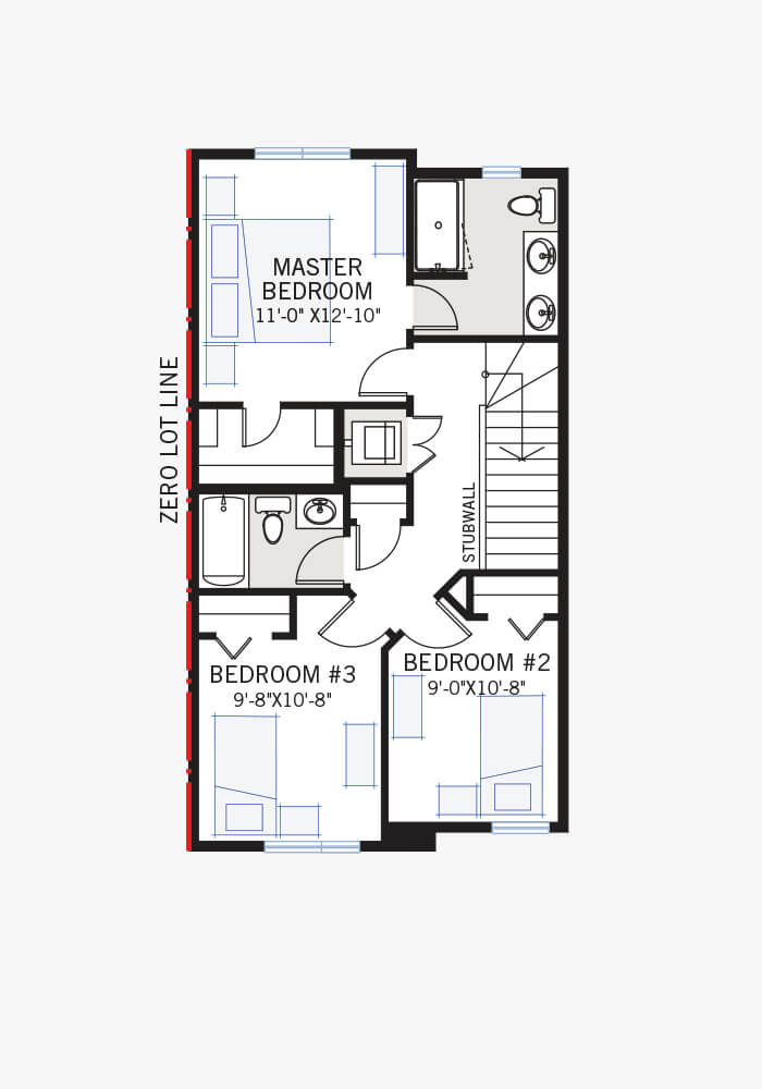 The Indigo 3 home upper floor quick possession in Walden, located at 478 Walgrove Way SE Calgary Built By Cardel Homes