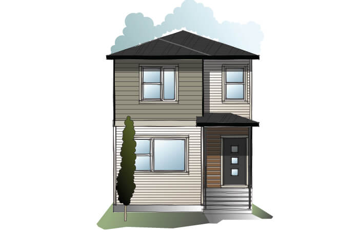 New Calgary Single Family Home Quick Possession Indigo 3 in Walden, located at 478 Walgrove Way SE Built By Cardel Homes