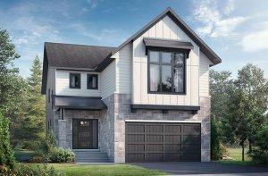 North Hampton - B2 Farmhouse Elevation - 2,433 sqft, 3 Bedroom, 2.5 Bathroom - Cardel Homes Ottawa