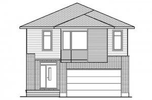 North Hampton - B3 Modern Elevation - 2,433 sqft, 3 Bedroom, 2.5 Bathroom - Cardel Homes Ottawa