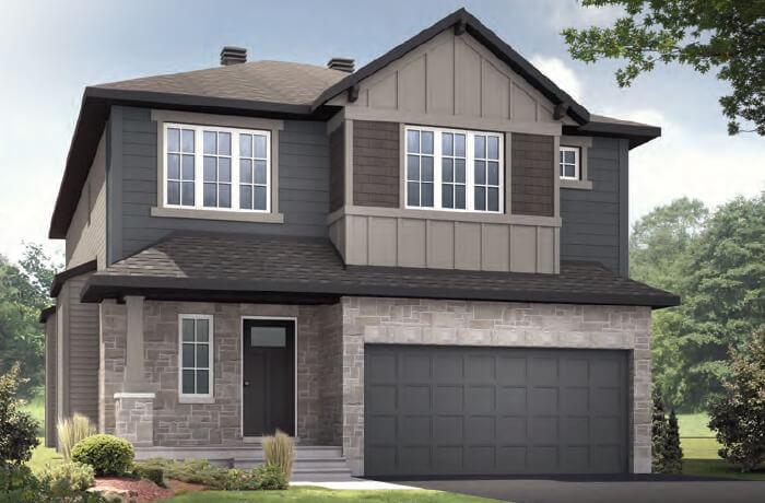 DEVONSHIRE 2 RR PS - Canadiana B1 Elevation - 2,227 sqft, 4 Bedroom, 2.5 Bathroom - Cardel Homes Ottawa