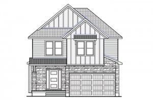 DEVONSHIRE 2 RR PS - Farmhouse B2 Elevation - 2,227 sqft, 4 Bedroom, 2.5 Bathroom - Cardel Homes Ottawa