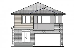 DEVONSHIRE 2 RR PS - Modern B3 Elevation - 2,227 sqft, 4 Bedroom, 2.5 Bathroom - Cardel Homes Ottawa