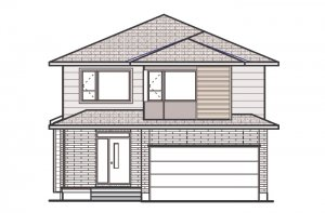 DEVONSHIRE 2 RR PS - Modern B4 Elevation - 2,227 sqft, 4 Bedroom, 2.5 Bathroom - Cardel Homes Ottawa