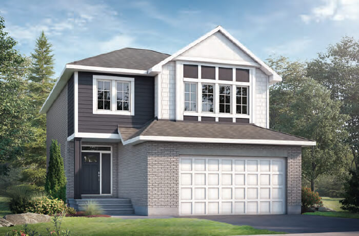 GRAFTON RR PS - Canadiana B1 Elevation - 2,346 sqft, 3-5 Bedroom, 2.5-3 Bathroom - Cardel Homes Ottawa