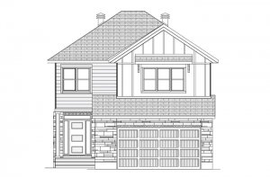 GRAFTON RR PS - Farmhouse B2 Elevation - 2,346 sqft, 3-5 Bedroom, 2.5-3 Bathroom - Cardel Homes Ottawa