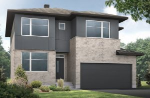 CORNELL RR PS - Urban Modern A3 Elevation - 2,130 sqft, 3 Bedroom, 2.5 Bathroom - Cardel Homes Ottawa