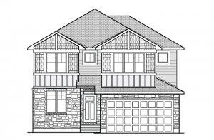 CORNELL RR PS - Canadiana A1 Elevation - 2,130 sqft, 3 Bedroom, 2.5 Bathroom - Cardel Homes Ottawa