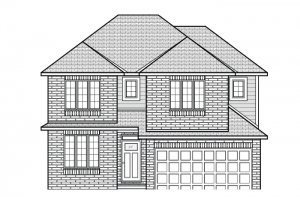 CORNELL RR PS - A2 Traditional Elevation - 2,130 sqft, 3 Bedroom, 2.5 Bathroom - Cardel Homes Ottawa