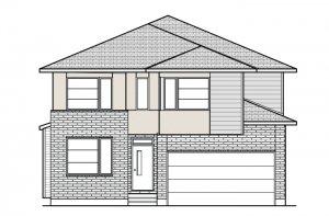 DURHAM RR PS - Urban Modern A3 Elevation - 2,294 sqft, 4 Bedroom, 2.5 Bathroom - Cardel Homes Ottawa