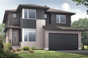NICHOLS RR PS - A3 Urban Modern Elevation - 2,456 sqft, 4-5 Bedroom, 2.5-3.5 Bathroom - Cardel Homes Ottawa