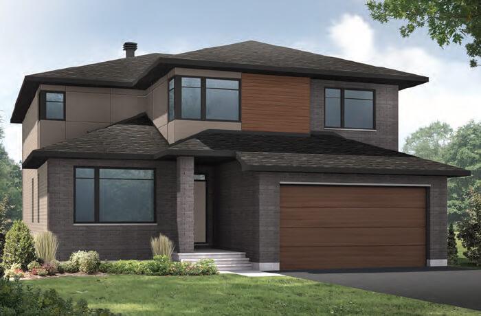 RIDGECREST RR PS - A3 Modern Elevation - 2,815 sqft, 4 Bedroom, 2.5 Bathroom - Cardel Homes Ottawa