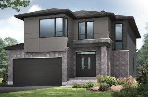 BRISTOL RR PS - A3 Urban Modern Elevation - 2,646 sqft, 4 Bedroom, 2.5 Bathroom - Cardel Homes Ottawa