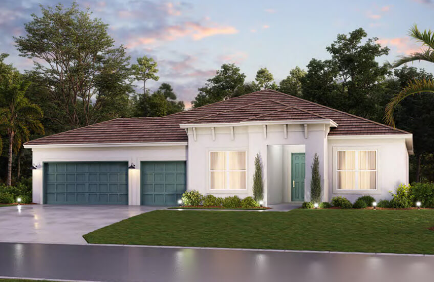 New Tampa Single Family Home Quick Possession Camden in Worthington, located at 4613 Antrim Drive, Sarasota (Lot 4) Built By Cardel Homes