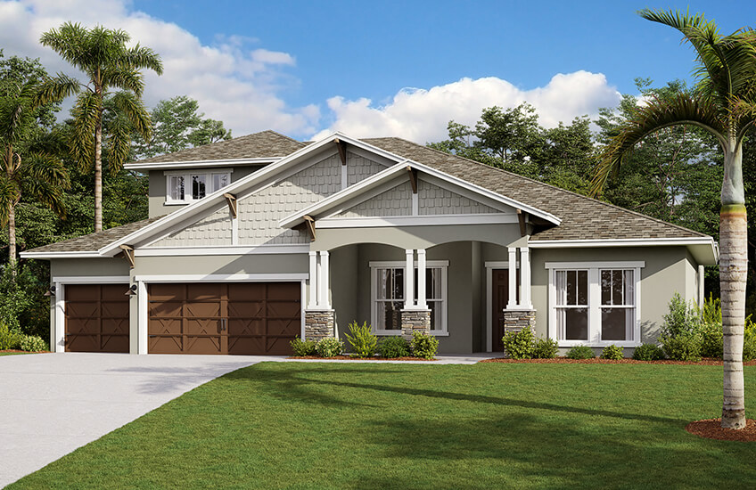 New Tampa Single Family Home Quick Possession Henley in Bexley, located at 4493 Tour Trace, Land O' Lakes, FL (Lot 10) Built By Cardel Homes Tampa