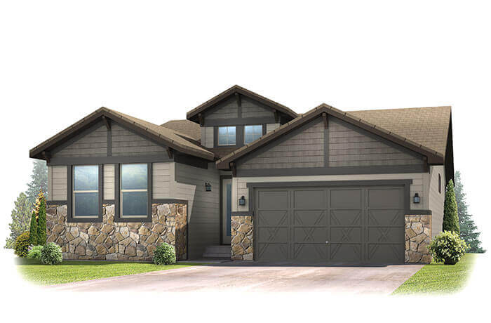 New Denver Single Family Home Quick Possession Pebble Beach in The Ridge, located at 6246 Woodbine Way Built By Cardel Homes