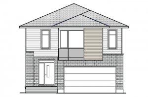 PS-RR-NORTH-HAMPTON-MODERN-B3 Elevation - 2,433 sqft, 3-4 Bedroom, 2.5-3.5 Bathroom - Cardel Homes Ottawa