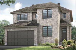 RR-NICHOLS Traditional A2 Elevation - 2,456 sqft, 4-5 Bedroom, 2.5-3.5 Bathroom - Cardel Homes Ottawa