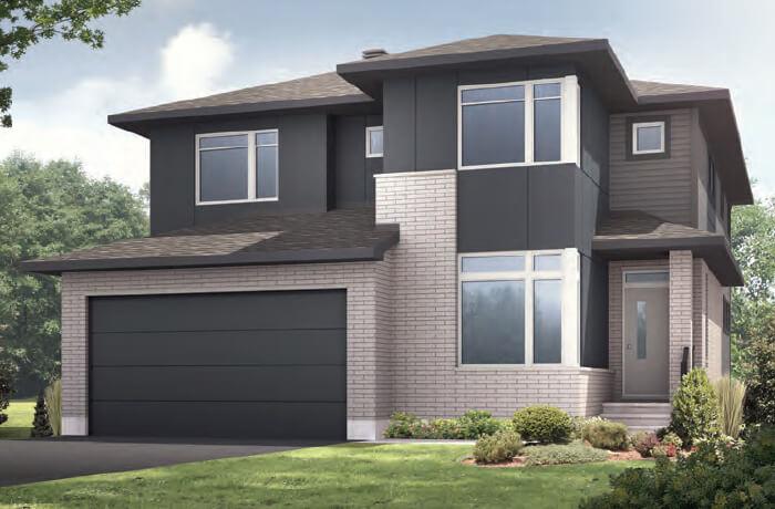 RR-NICHOLS Urban Modern A3 Elevation - 2,456 sqft, 4-5 Bedroom, 2.5-3.5 Bathroom - Cardel Homes Ottawa