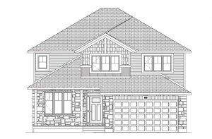 RR-RIDGECREST Canadiana A1 Elevation - 2,815 sqft, 4 Bedroom, 2.5 Bathroom - Cardel Homes Ottawa