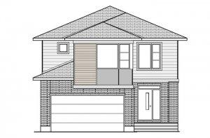 BERSHIRE 2 BSPS - Modern B3 Elevation - 2,570 sqft, 4 Bedroom, 2.5 Bathroom - Cardel Homes Ottawa