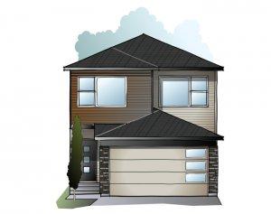 Tala YYC - A2 Urban Prairie Elevation - 2,067 sqft, 3-4 Bedroom, 2.5 - 3.5 Bathroom - Cardel Homes Calgary