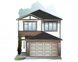 Tala YYC - A1 Urban Craftsman Elevation - 2,067 sqft, 3-4 Bedroom, 2.5 - 3.5 Bathroom - Cardel Homes Calgary