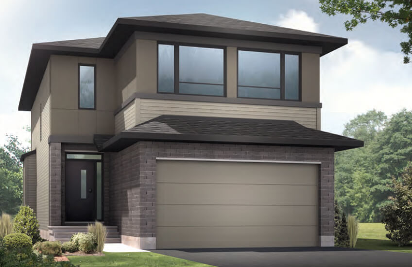 New Ottawa Single Family Home Quick Possession Auden in EdenWylde, located at 804 Sendero Way, Stittsville Built By Cardel Homes