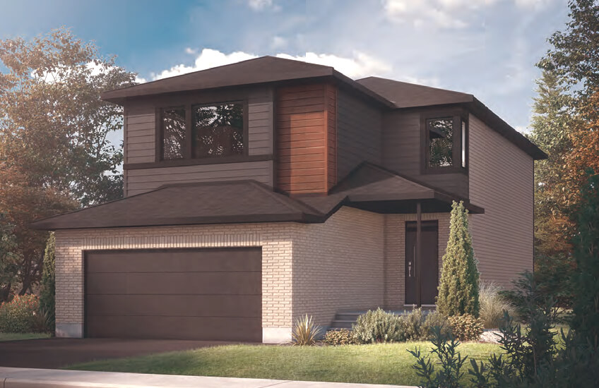 New Ottawa Single Family Home Quick Possession Neuvo 1 in EdenWylde, located at 800 Sendero Way, Stittsville Built By Cardel Homes